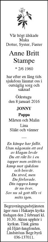 jönköpings posten dödsannonser