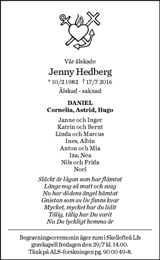 jenny hedberg als
