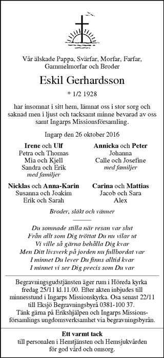 smålands dagblad dödsannonser