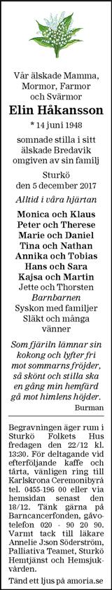 c5fe15d0f5bf Familjesidan.se | Dödsannonser från hela landet