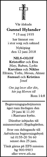 arvidssons begravningsbyrå nyköping