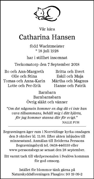 helsingborgs dagblad dödsannonser